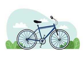 sport del veicolo della bicicletta nel paesaggio vettore