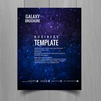Galaxy universo brochure modello disegno vettoriale