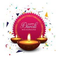 Priorità bassa decorativa di celebrazione felice di diwali vettore