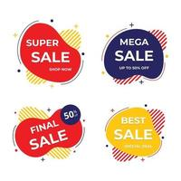 badge di vendita e raccolta di etichette modello di banner di vendita di promozione di vendita di prezzo caldo vettore