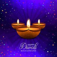 Diwali felice decorativo sfondo colorato con coriandoli vettore
