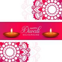 Vettore decorativo del fondo della lampada a olio di Diwali di celebrazione felice