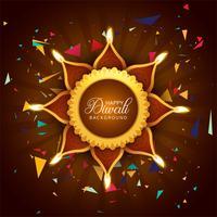 Fondo decorativo del modello di festival creativo di Diwali vettore