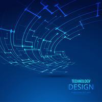 Illustrazione astratta di disegno della priorità bassa di tecnologia vettore