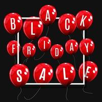 concetto di palloncino vendita venerdì nero del modello di offerta speciale di sconto vettore