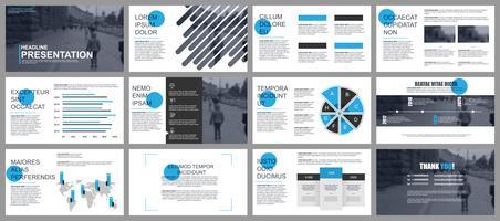 Presentazione aziendale con infografica vettore