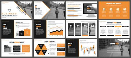 Presentazione di PowerPoint aziendale con infografica vettore