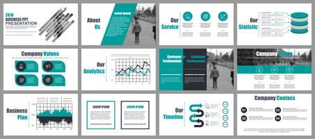 Modelli di slide Powerpoint di business vettore