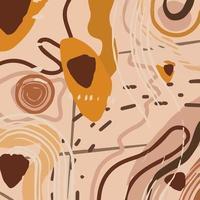 moderna trama di sfondo astratto in colori pastello nudi. modello astratto di moda con forme organiche, macchie, linee, punti. illustrazione vettoriale