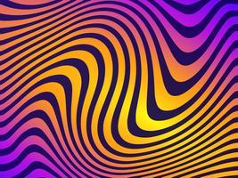 Linee ondulate colorate sfondo vettoriale