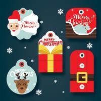 Pacchetto regalo di tag regalo di Natale vettore