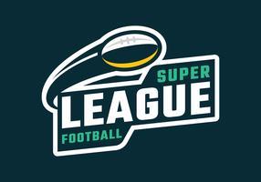Emblema della Super League Football vettore
