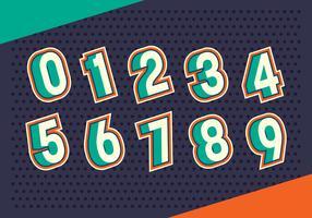 Set di numeri vettore