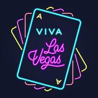 Tipografia di Lettering di notte di stile Broadway retrò di Las Vegas Casino