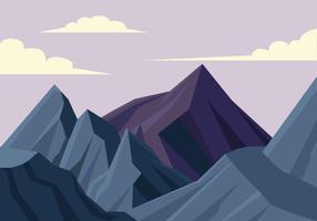 Illustrazione di vettore della prima persona del paesaggio della montagna
