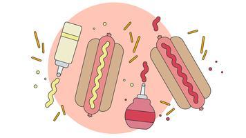 Hot Dog vettoriale