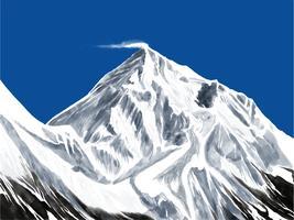 Montagna Paesaggio prima persona vettore