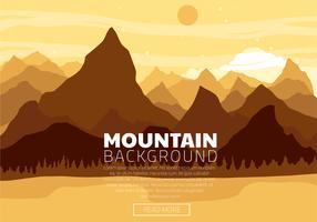 Disegno vettoriale di paesaggio montano
