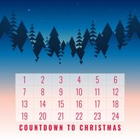 Set di cartolina d'auguri stampabile di Natale calendario dell'Avvento