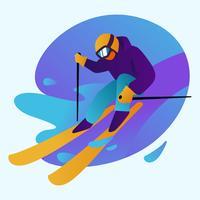 sciatore vettore