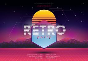 Modello di poster Retro Party and Gathering