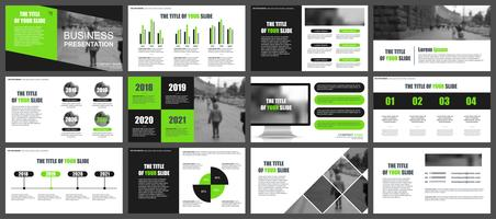 Business Infographic Powerpoint Modelli di diapositive vettore