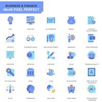 Set semplice Affari e finanza Icone piatte per applicazioni Web e mobili