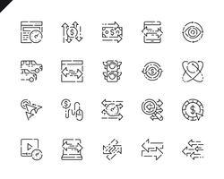 Set di icone della linea di traffico semplice per applicazioni Web e mobili. vettore