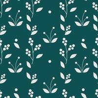 elegante motivo minimalista senza soluzione di continuità con foglie e boccioli in sfondo vettoriale piatto stile astratto geometrico