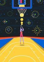 Giocatore di pallacanestro vettore