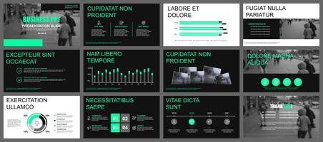 Modelli di presentazione powerpoint di presentazione aziendale vettore