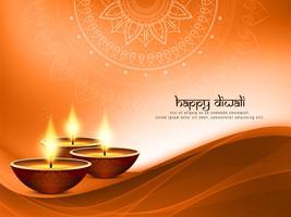 Fondo decorativo di Diwali felice astratto