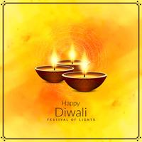 Fondo di saluto felice astratto di festival di Diwali