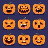 concetto di Halloween con carattere divertente vettore