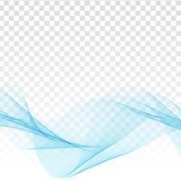 Disegno elegante dell'onda blu astratta su priorità bassa trasparente
