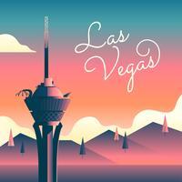 Landmark Stratosphere Tower di Las Vegas vettore
