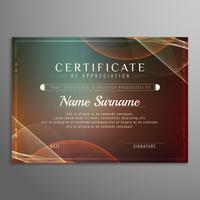 Progettazione del fondo ondulato certificato astratto