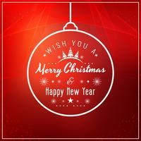 Fondo rosso astratto di Buon Natale vettore
