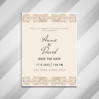 Modello di carta di invito artistico astratto di nozze vettore