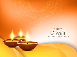 Fondo di saluto felice alla moda astratto di festival di Diwali