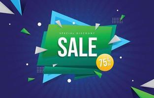 gradiente banner di vendita con promozione sconto discount vettore