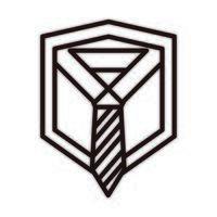 felice festa del papà camicia con cravatta biglietto di auguri celebrazione icona stile linea vettore