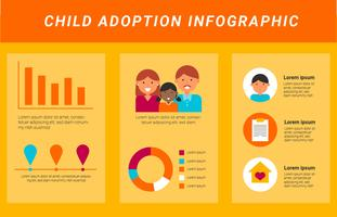 Vettore di Infographics di adozione internazionale