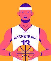 Illustrazione di pallacanestro vettore