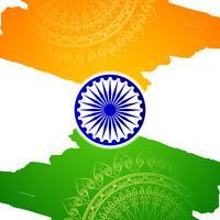 Fondo indiano astratto di progettazione dell'acquerello di tema della bandiera vettore