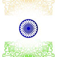 Fondo indiano astratto di progettazione di tema della bandiera vettore