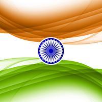 Priorità bassa ondulata astratta di disegno di tema della bandierina indiana vettore
