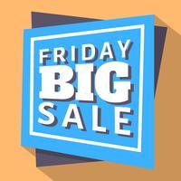Venerdì grande vendita vettore