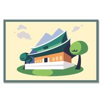 Cartolina del Palazzo Gyeongbokgung vettore