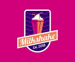 logo milkshake cena vettore